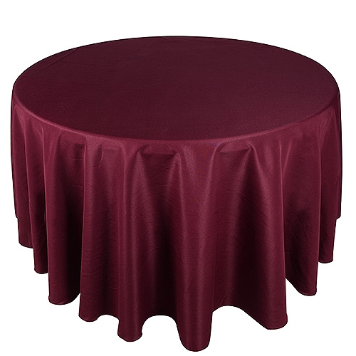 Burgundy 108 Inch Round Tablecloths