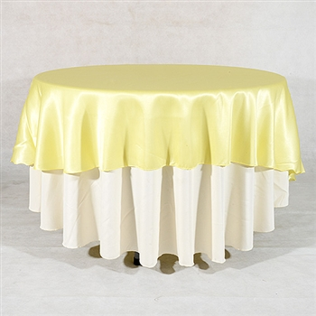 Baby Maize 108 Inch Round Satin Tablecloths