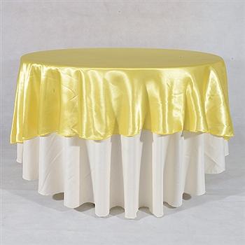 Daffodil 108 Inch Round Satin Tableclothss
