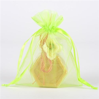 10 Apple Green 12x14 Organza Favor Bags