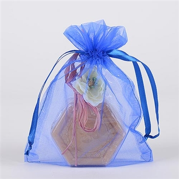 10 Royal Blue 12x14 Organza Favor Bags
