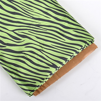 Apple Green Animal Print Satin Fabric 58x10 Yards