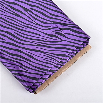 Purple Animal Print Satin Fabric 58x10 Yards