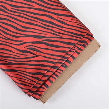 Red Animal Print Satin Fabric 58x10 Yards