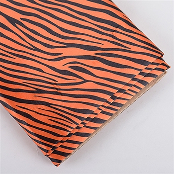 Orange Animal Print Satin Fabric 58x10 Yards