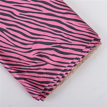 Hot Pink Animal Print Satin Fabric 58x10 Yards