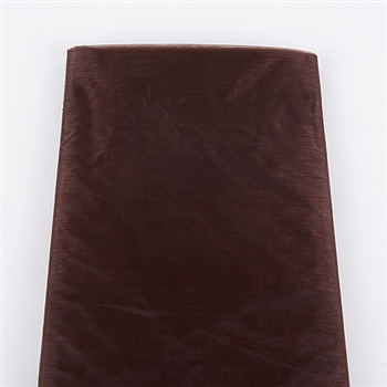 Chocolate Brown Premium Organza Fabric 60x10 Yards