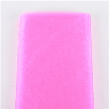 Shocking Pink Premium Organza Fabric 60x10 Yards