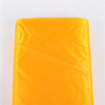 Light Gold Premium Organza Fabric 60x10 Yards