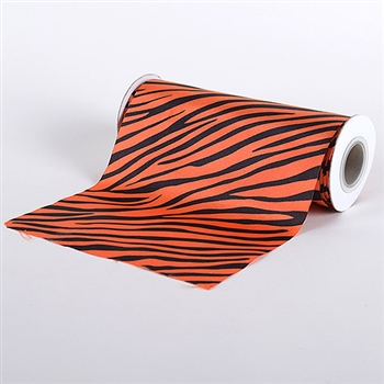 Orange Animal Print Satin Fabric 6x10 Yards