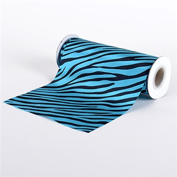 Turquoise Animal Print Satin Fabric 6x10 Yards