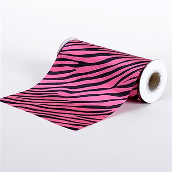 Hot Pink Animal Print Satin Fabric 6x10 Yards