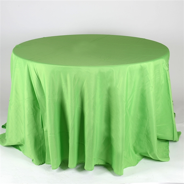 Apple Green 132 Inch Round Tablecloths