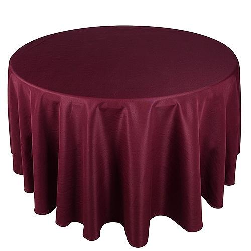Burgundy 132 Inch Round Tablecloths
