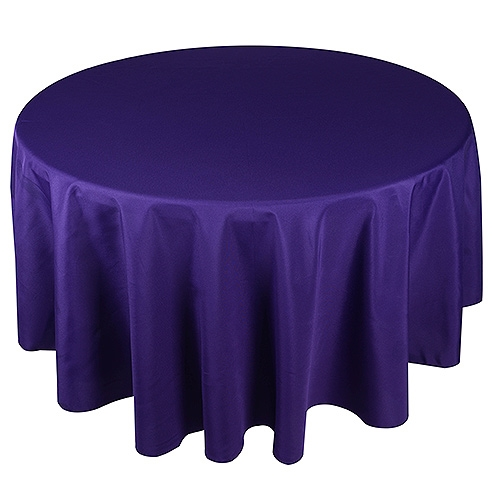 Purple 132 Inch Round Tablecloths