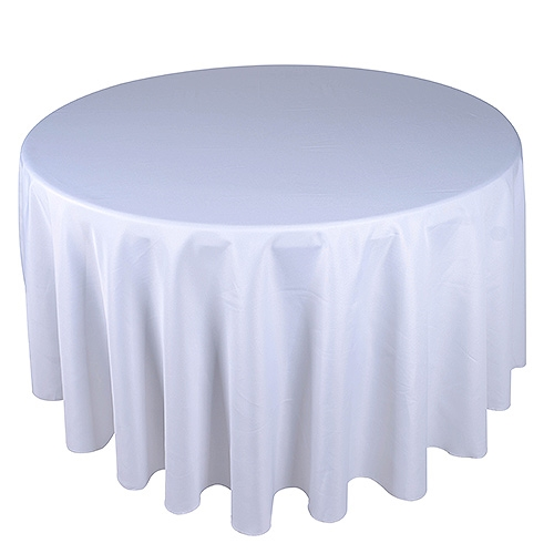 Silver 132 Inch Round Tablecloths