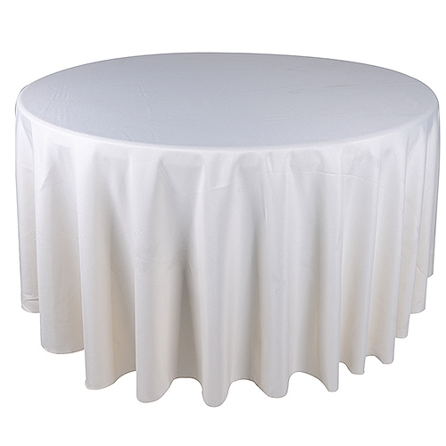 Ivory 132 Inch Round Tablecloths