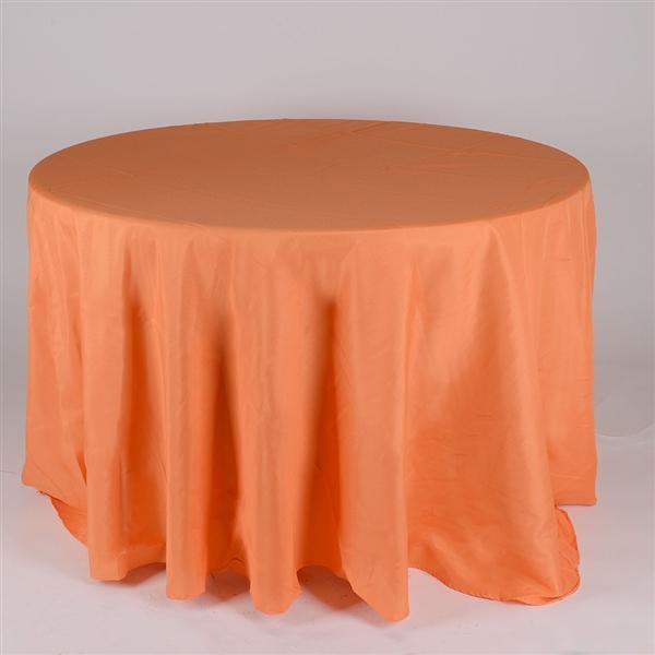 Orange 132 Inch Round Tablecloths