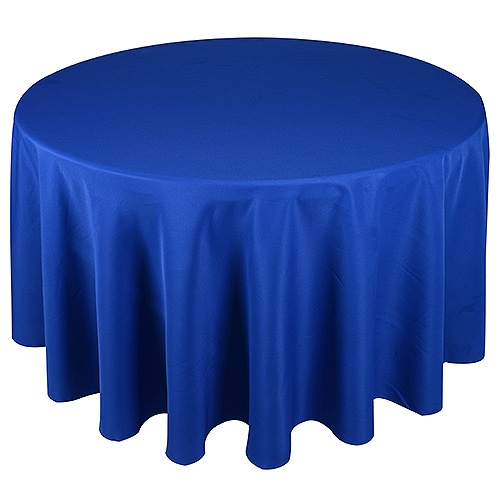 Royal Blue 132 Inch Round Tablecloths