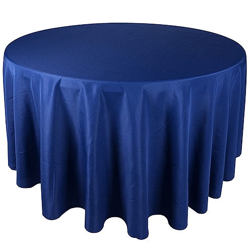Navy 132 Inch Round Tablecloths