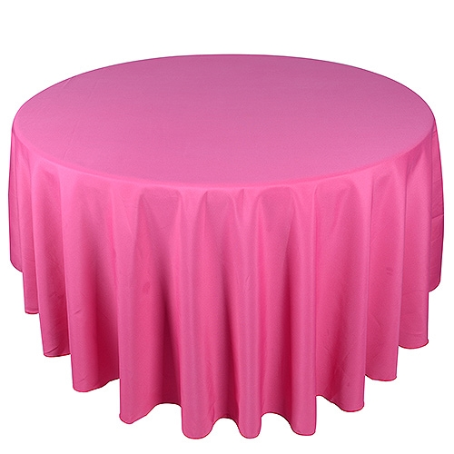 Fuchsia 132 Inch Round Tablecloths
