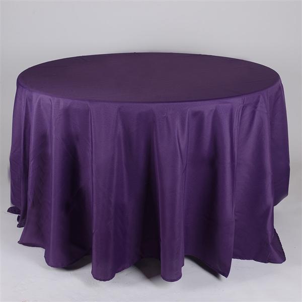 Plum 132 Inch Round Tablecloths
