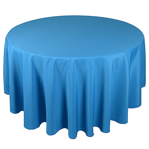 Turquoise 132 Inch Round Tablecloths