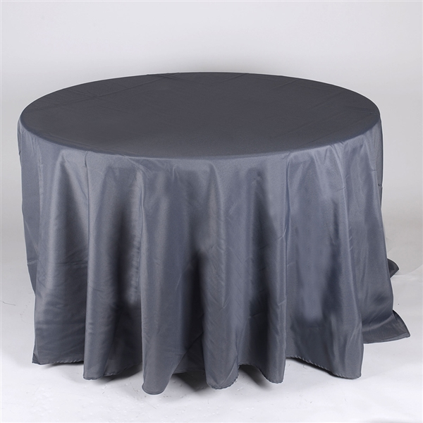 Charcoal 132 Inch Round Tablecloths