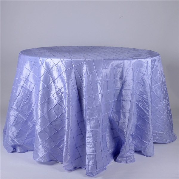 Lavender 132 inch Round Pintuck Satin Tablecloth