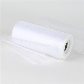 White Premium Organza Fabric Spool 6x25 Yards