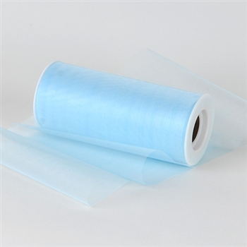 Light Blue Premium Organza Fabric Spool 6x25 Yards