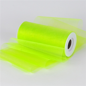 Apple Green Premium Organza Fabric Spool 6x25 Yards