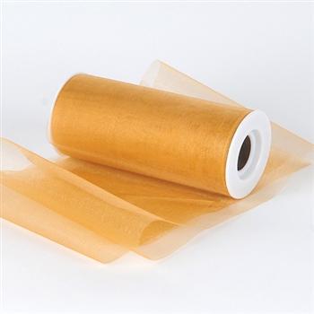 Old Gold Premium Organza Fabric Spool 6x25 Yards