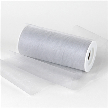Silver Premium Organza Fabric Spool 6x25 Yards