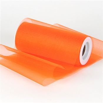 Orange Premium Organza Fabric Spool 6x25 Yards