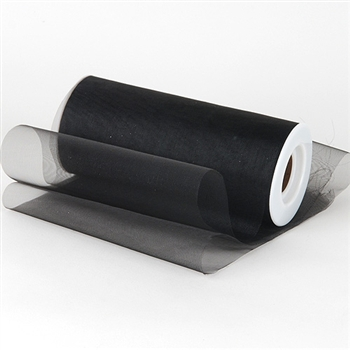 Black Premium Organza Fabric Spool 6x25 Yards