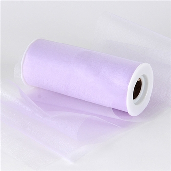 Lavender Premium Organza Fabric Spool 6x25 Yards