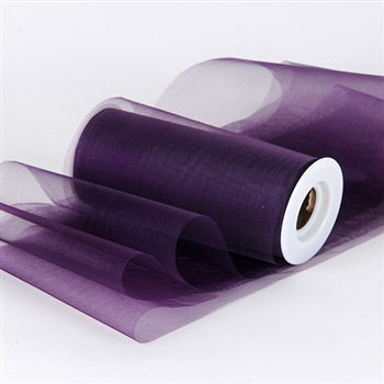 Plum Premium Organza Fabric Spool 6x25 Yards
