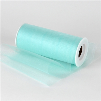 Aqua Blue Premium Organza Fabric Spool 6x25 Yards