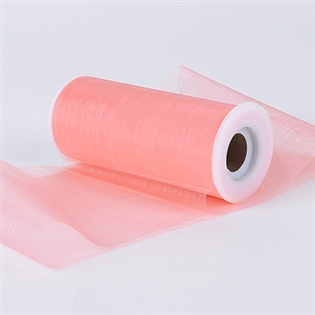 Coral Premium Organza Fabric Spool 6x25 Yards