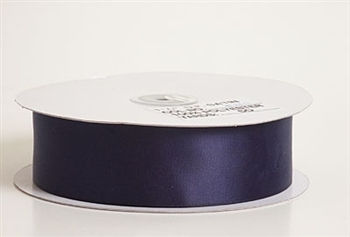 1/4 Inch Navy Blue Satin Ribbon
