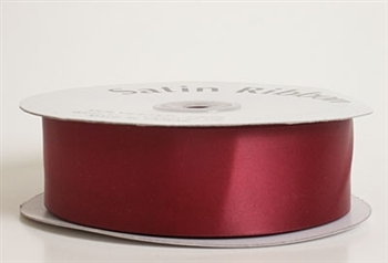 3/8 Inch Burgundy Satin Ribbon