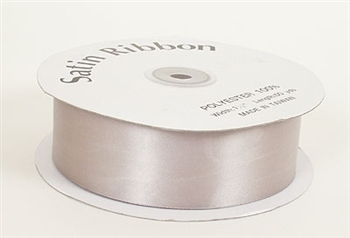 3/8 Inch Silver Satin Ribbon