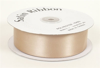 5/8 Inch Tan Satin Ribbon