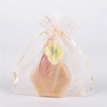 10 Ivory 20x21 Organza Favor Bags