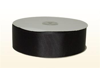 1/4 Inch Black Grosgrain Ribbon
