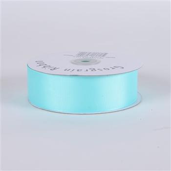 7/8 Inch Aqua Blue Grosgrain Ribbon