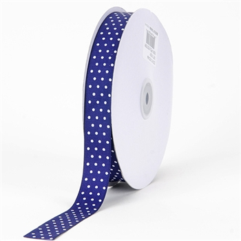 3/8 Inch Purple Swiss Dot Grosgrain Ribbon