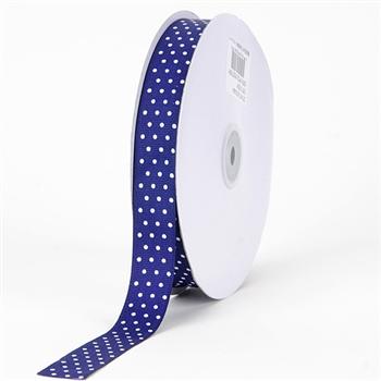 7/8 Inch Purple Swiss Dot Grosgrain Ribbon