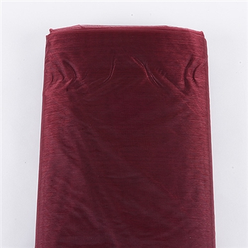 Burgundy Organza Fabric